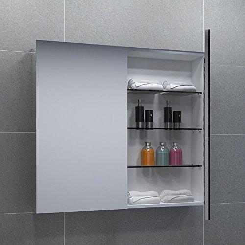#2-türiger Spiegelschrank, Superflach, Breite 60 cm, Weiß#