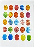 Colourful Easter Egg Design Large Cotton Tea Towel by Half
