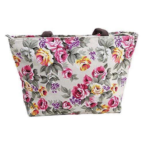 Gluckliy Einkaufstasche Aufbewahrungsbeutel Komfort Schulter Handtaschen Skelett bedrucktem Leinen Tasche Weiß