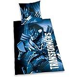 Herding 440349050 Bettwäsche Transformers, Kopfkissenbezug 80 x 80 cm und Bettbezug 135 x 200 cm, 100 % Baumwolle, Renforce