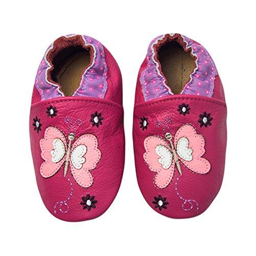 Rose & Chocolat Chaussures Bébé Butterfly Violet