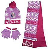 Disney Frozen Elsa Wintermütze Schal Handschuhe Set (54 cm)