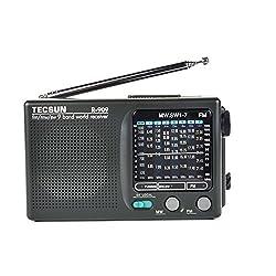 TECSUN R-909 AM/FM/SW1-7 9 Bands World Band Receiver Portable Radio (TECSUN R-909)