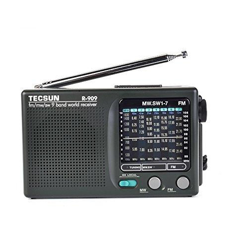 TECSUN R-909 AM/FM/SW1-7 9 Bands World Band Receiver