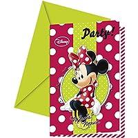 Disney Minnie Mouse-Biglietti di invito per Party,