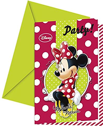 Fashion Disney Minnie Mouse Party Invitations, Pack