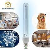 rightinwd LED 220 V 15 W UV lámpara de esterilización de ozono E27 Base antibacteriano tasa 99% ultravioleta desinfección germicida luces sin base de la lámpara [Clase de eficiencia energética A+]