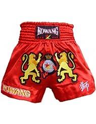 Rouge MMA boxe Muay Thai Short de boxe en Satin-Maillot de rugby à motif lion Taille XXL