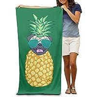 Macevoy piña gafas de sol Perro Navidad adultos Super absorbente toalla de playa toallas de playa