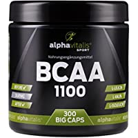 Preisvergleich für BCAA 1100-300 BCAA Kapseln ohne Magnesiumstearat - 1100 mg + B6 - glutenfrei - laktosefrei – alphavitalis SPORT...