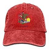 Ejdkdo Flag of Illinois Unisex Washed Adjustable Vintage Cowboy Hat Denim Baseball Tapas New13