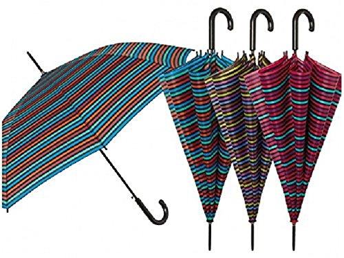 Perletti Regenschirm Damen Automatische 61cm Stripes/Einheit
