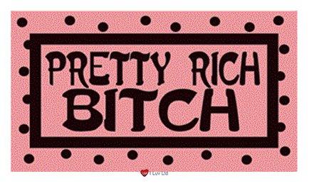 Hübsche Aufkleber Rich Bitch