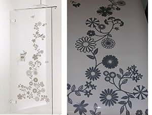 Sealskin verre autocollant pour fenêtre motif douche fLEUR sticker miroir verre