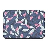 dewdferf Non-Slip Doormat Abstract Leaves Durable Mat rug Bathroom Bedroom Floor Carpet