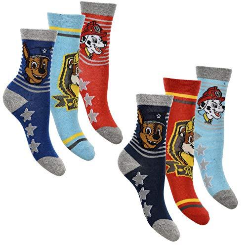 6er Pack Jungen Socken Strümpfe Paw Patrol mit vielen verschiedenen Muster und Designs (Paw Patrol Mix 4, Schuhgröße EUR 31-34)