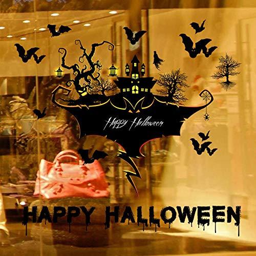 Halloween gruselige Wandsticker Schlafzimmer Bar Ghost Festival Hintergrund dekorative Wandsticker Schriftsatz Größe 60x90cm