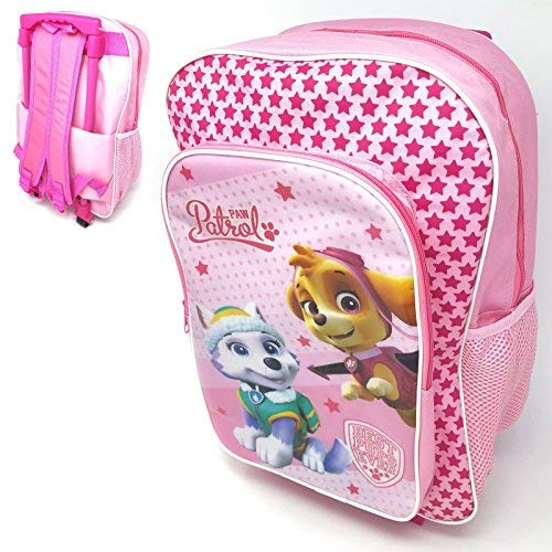 Paw patrol skye and everest deluxe backpack trolley bag