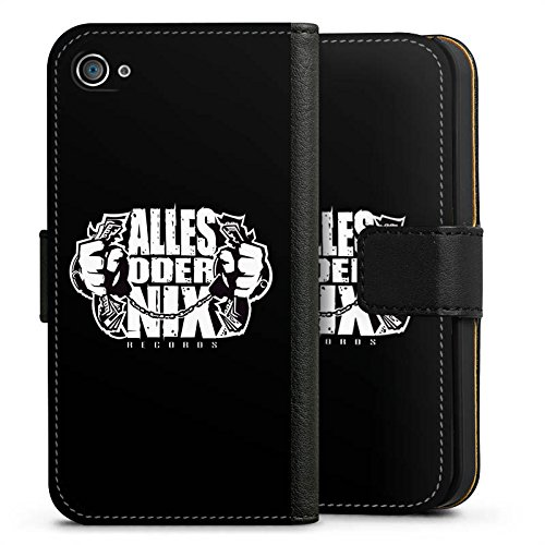 Apple iPhone X Silikon Hülle Case Schutzhülle Xatar Fanartikel Merchandise Alles Oder Nix Sideflip Tasche schwarz