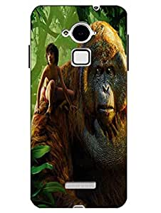 Snazzy Jungle Book Printed Green Hard Back Cover For CoolPad Note 3