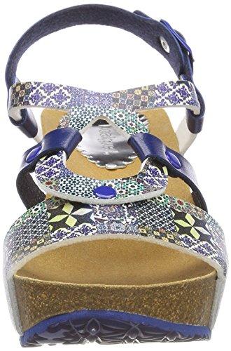 Desigual Shoes_bio9 Mosaic, Sandales Bride Arrière Femme Bleu (5043 Moonlight Blue)