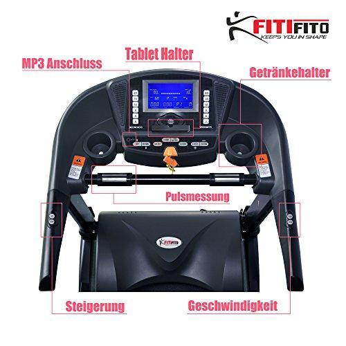 Fitifito ES8500X Profi Laufband 7PS 22km/h mit LCD Bildschirm - Klappbar, Schwarz Abbildung 3