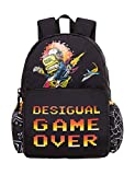 Desigual Moch_sailing, Boys' Backpack, Black (Negro), 13x39.5x31 cm (B x H T)