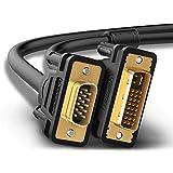 UGREEN DVI auf VGA Kabel 1.5m DVI-I 24+5 Stecker auf 15 Pin VGA Stecker Adapterkabel mit Vergoldete Konverter Hochreine Kupferleiter, Unterstützung 1080P für Gaming, DVD, Laptop, HDTV und Beamer