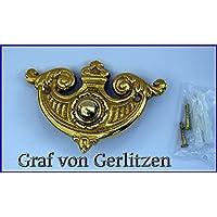 Graf von Gerlitzen Luxusgriffe Antik Messing WC Toilette Schild Jugendstil WC-01P