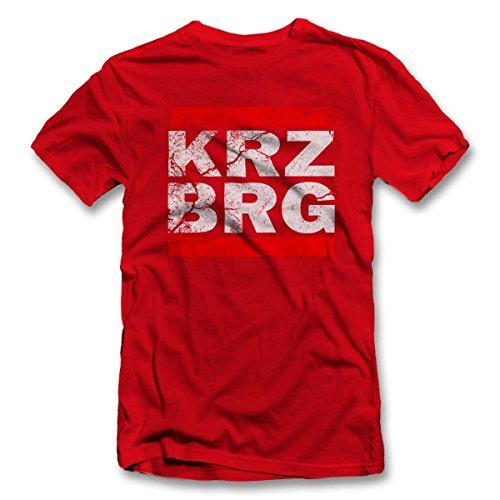 Kreuzberg Vintage T-Shirt S-XXL 12 Farben / Colours Rot