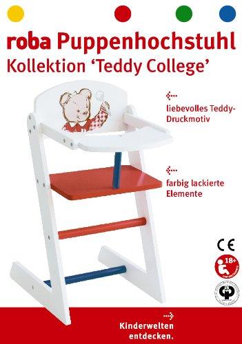 Roba 98834 - Teddy College Bambole Seggiolone