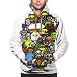 UOSIQZDF Coole Hoodies Black Men's Hoodie Outlet 3XL A Bathing Ape Pullover Hoodie