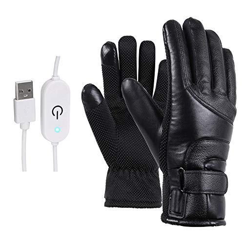 Enjoyyouselves Beheizbare Handschuhe Touchscreen, Elektrische Heizung Handschuhe, Intelligentes Touchscreen-Design,für Skifahren Fahrrad Radfahren Motorrad Wandern (USB Aufladen)