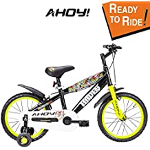 AHOY! Fitted & Ready to Ride Cycle 16 inch Hades for Boys (5 to 7 Years) - Neon Yellow