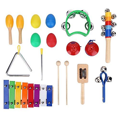 Kinder Schlaginstrument Musikinstrumente Spielzeug Set Pädagogische Xylophone Spielzeug mit Aufbewahrungsbeutel