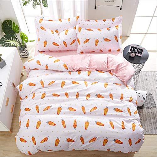 SHJIA Einfache geometrische Muster Bettwäsche grau Bettdecke König Tröster Set Bettbezug Bettwäsche weiß 150x200cm (Grau Tröster Set Weiß König Und)
