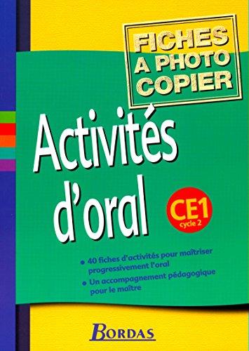 Activités d'oral, cycle 2 : CE1 (Fiches)