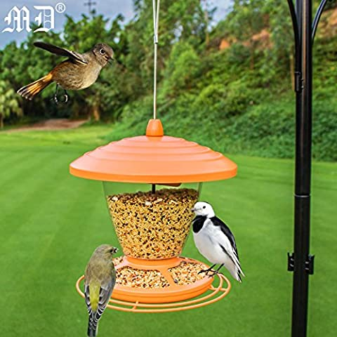 Ein Garten Vogel Feeder Vogel Korn Container Feeder Yidiao Attract Outdoor, mit 20 × H21Cm (Anti-eichhörnchen Bird Feeder)