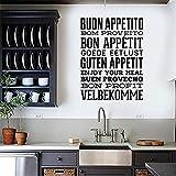 sticker mural Cuisine Gourmande Proverbes Art Stickers Restaurant Bar Décor À La Maison