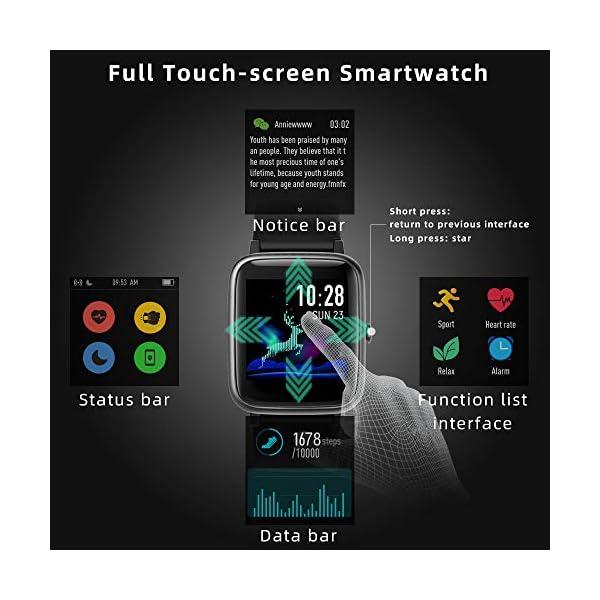 LIFEBEE Smartwatch, Reloj Inteligente Impermeable IP68 para Hombre Mujer niños, Pulsera de Actividad Inteligente con… 2