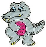 Krokodil Aufnäher Bügelbild