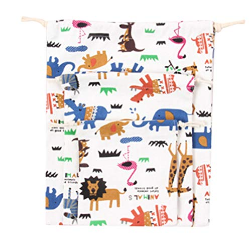 Weryffe Nette Baumwollexklusive Sammlungs Bündel Zugschnur Tee Geschenk Süßigkeits Karikatur Einkaufstasche (Niedlicher Druck)
