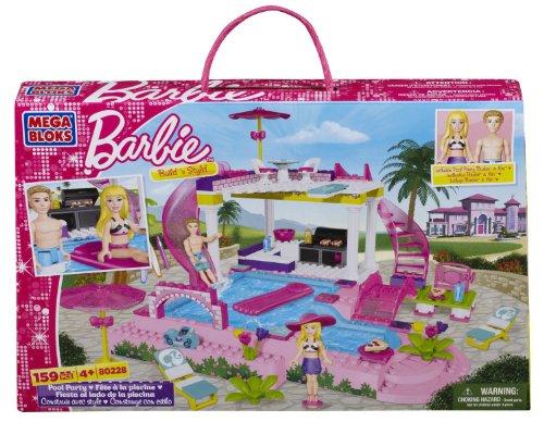 Mega Bloks 80228 - Barbie - Build 'n Splash Pool Party - Barbie-party Ken