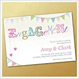 Personalised Engagement Invitations - pack of 25 (Includes Free Envelopes)
