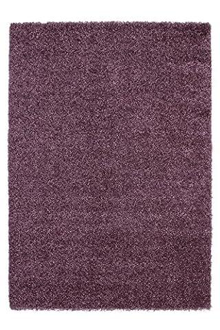 Teppich Wohnzimmer Carpet modernes Design Hochflor UNI RUG Comfy 100 Violett 150x220cm | Teppiche günstig online