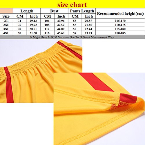 Zhhlaixing One Sets Mens Breathable Sleeveless Basketball Clothes Gli sport Training Suit Red