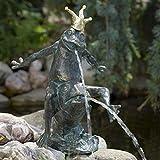 Bronze-Wasserspeier Froschkönig Friedemann