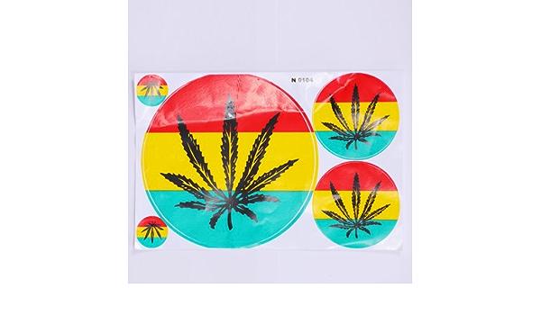 Sticker Hanf Blatt Aufkleber Dope Gras Deko Aufkleberbögen Spielzeug