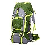 iisport® Trekking Rucksack 55L + 5 Liter Zusatzvolumen Outdoor Camping Rucksack Wasserdichter