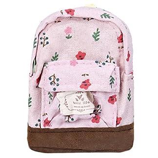 Tongshi Mini lona florales Mochila Mujeres Niñas Niños barato bolsa de la moneda